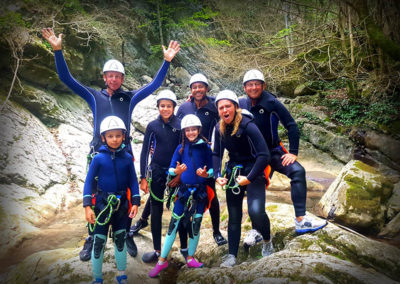 Carleva - Photo de groupe de canyoning